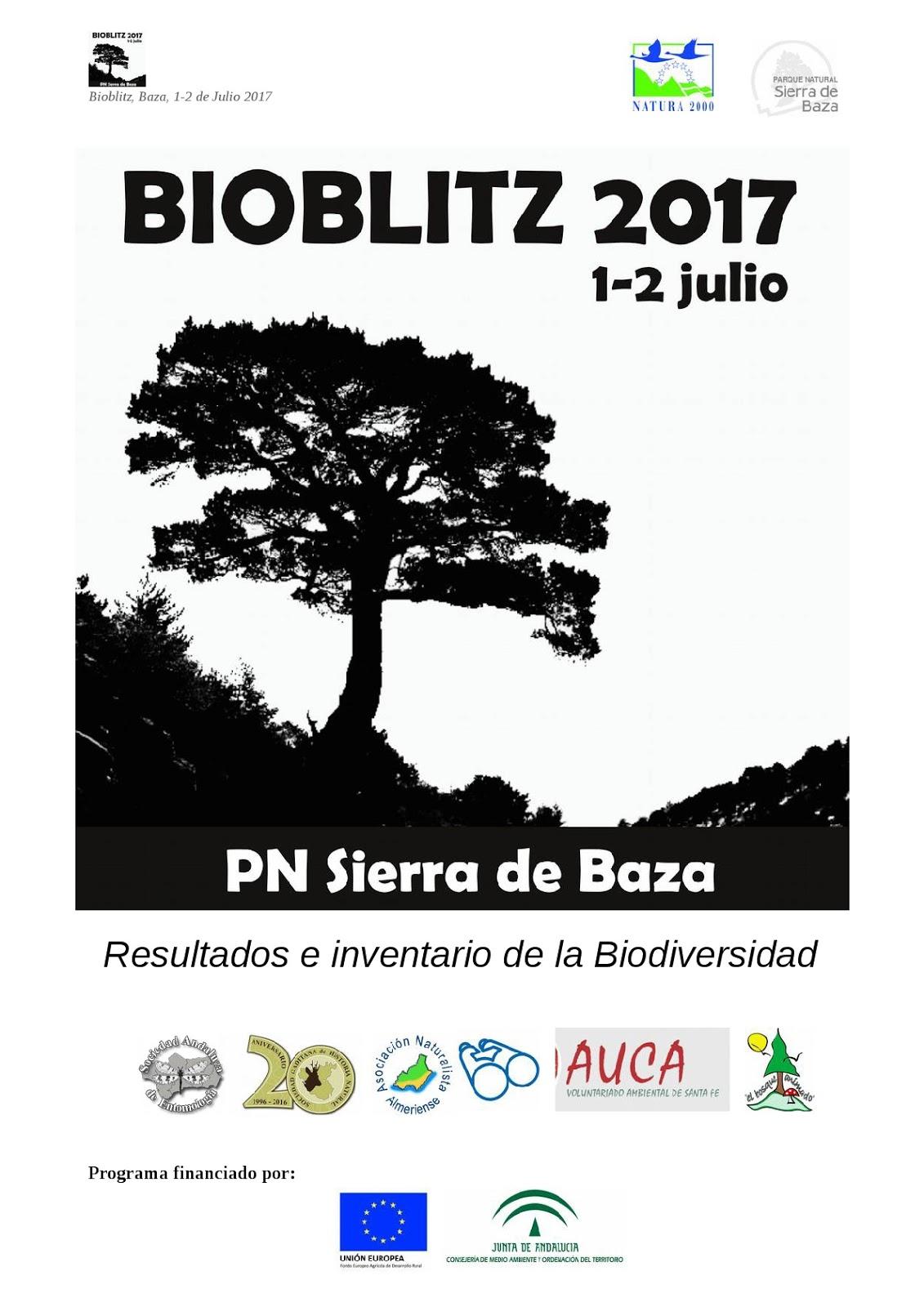 Resultados del Bioblitz Sierra de Baza 2017