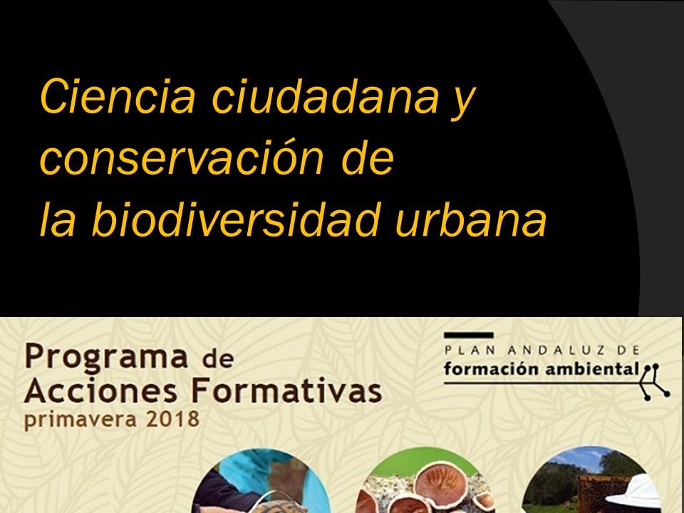 Ciencia ciudadana y biodiversidad urbana