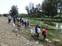 En el río Pereilas con I.E.S. Ciudad de Coín