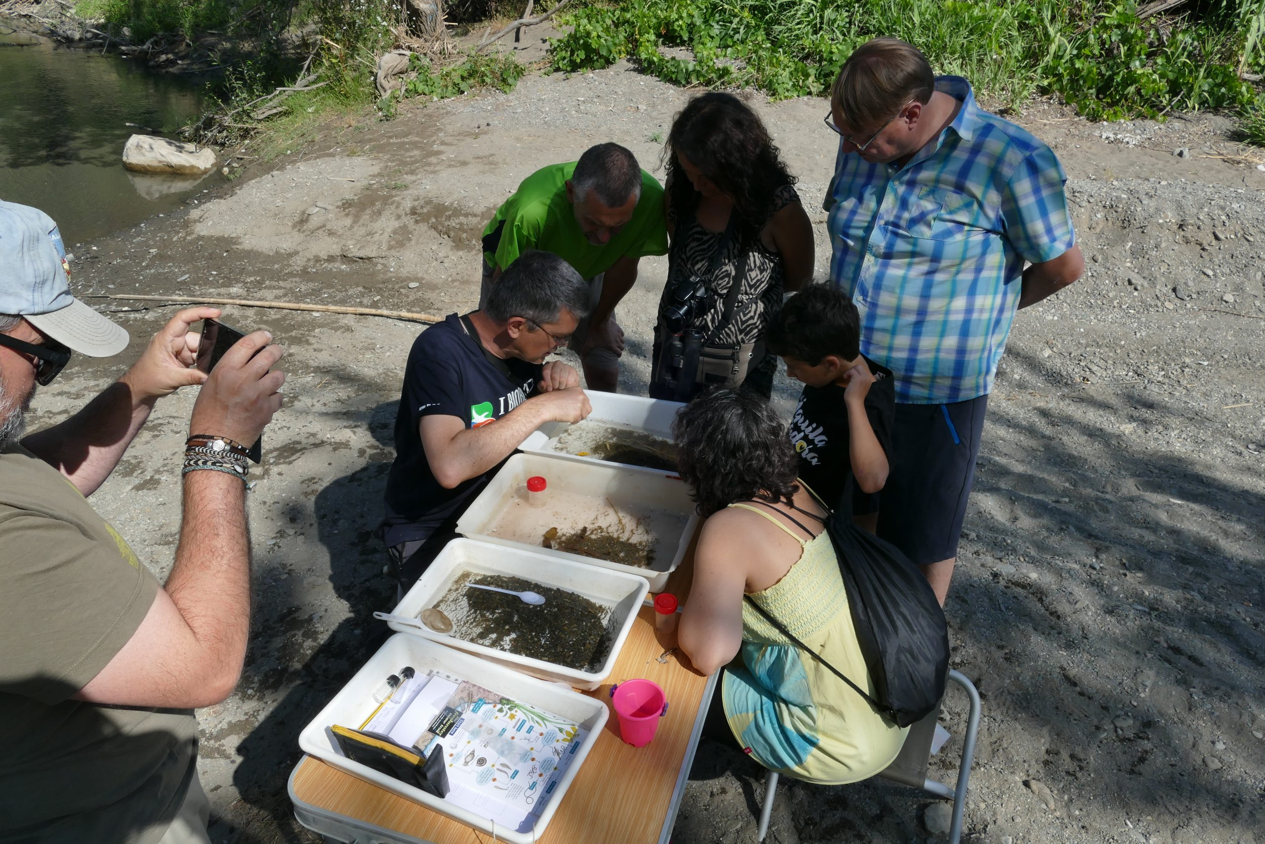 Study of aquatic macro-invertebrates.